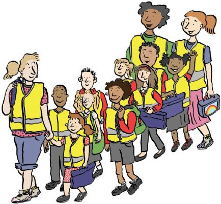 Image result for walking school bus